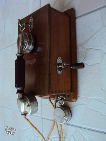 t l phone ancien bois la s quanaise electrique offre dordogne 24110 montrem 250. Black Bedroom Furniture Sets. Home Design Ideas