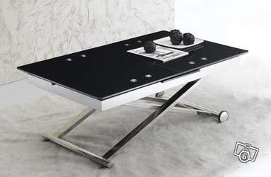 Table basse design relevable extensible cosmo noir offre val de marne 94310 orly 449 - Table salon modulable hauteur ...
