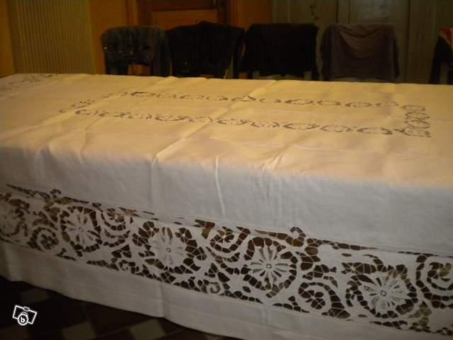 Nappe ancienne en dentelle offre yonne 89000 300 - Nappe en dentelle ancienne ...