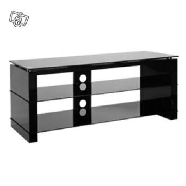 meuble tv ateca cristal at 387 en verre tremp offre nord. Black Bedroom Furniture Sets. Home Design Ideas