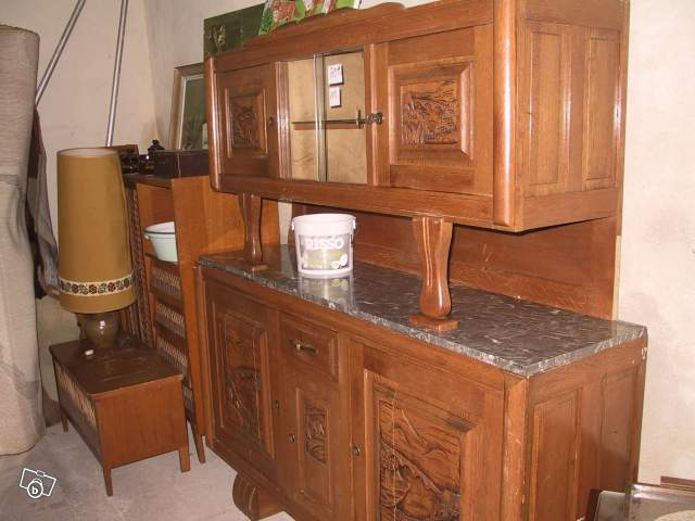 buffet 2 corps ann es 50 ch ne massif clair offre eure et loir 28130 soulaires 50. Black Bedroom Furniture Sets. Home Design Ideas