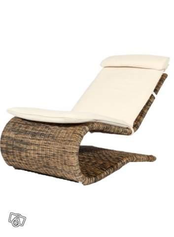 Chaise longue en rotin s louger offre puy de d me 63118 for Chaise longue rotin