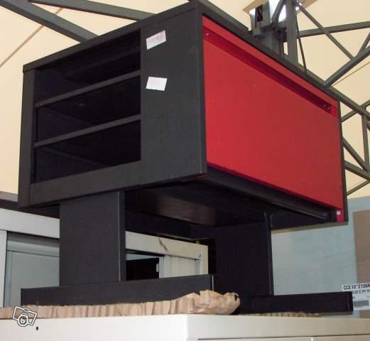 Meuble m tallique pour imprimante offre allier 03410 for Meuble imprimante
