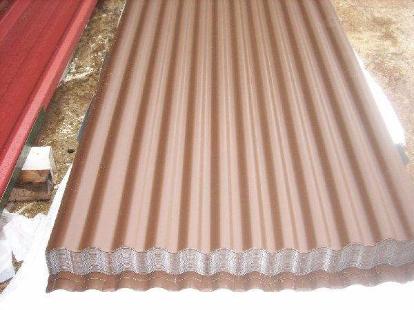 tole ondul e laqu e brun noyer marron offre auvergne la. Black Bedroom Furniture Sets. Home Design Ideas