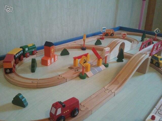 Circuit train en bois king jouet Offre Manche 50600 Saint  ~ Train De Bois Jouet